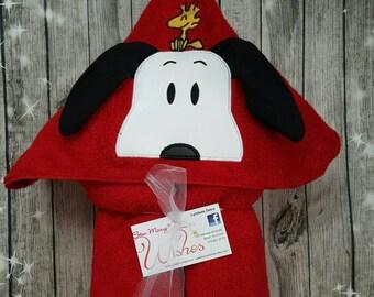 Snoopy Hooded Towel