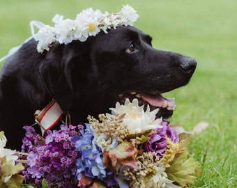 Daisy, Bridesmaide flower Crown, dog wedding, bridal headpiece, wedding flower crown, rustic head wreath, wedding headband, bridal hair
