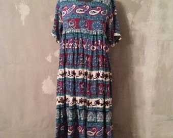 40% OFF Vintage Cotton Gauze Indian India Festival Festy Hippie Dress M