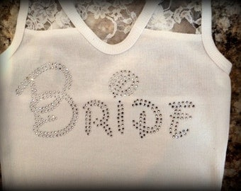 Bride Rhinestone Tank Top, Bride Rhinestone Tee, Bride Bling Tank Top, Bride Bling Tshirt, Bride Plus size Bride Tank, Disney Bride