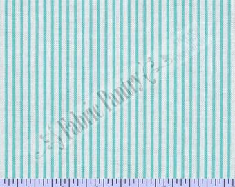 Precious Beginnings Aqua Stripe ~ Quilt Fabric By The Yard ~ Faye Burgos ~ Marcus Brothers ~ R37-5526-0137