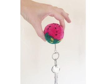 Pom Pom Keychain - Watermelon