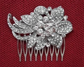 Bridal Rhinestone Hair Comb, Wedding Rhinestone Hair Comb - Bridal Headpiece,Rhinestone Bridal Comb, Weddings,