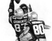 portrait drawing of Rob Gronkowski (matted print)