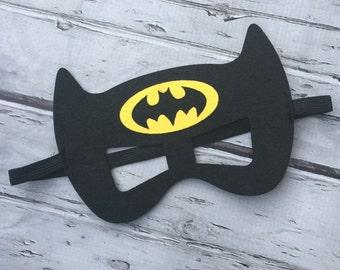 Layered Batman Felt Mask  Batman Mask Superhero Mask Birthday Mask