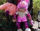 "SALE Waldorf knitted doll Banichka 14"" -reserved for dancingfool08"