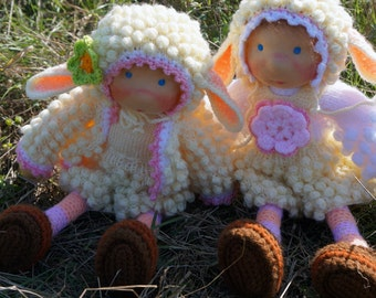 """SALE Waldorf knitted doll Monica 14"""""""