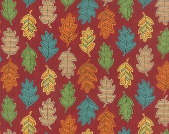 ON SALE Moda Forest Fancy Deb Strain 1/2 Yard Falling Leaves Berry Halloween 19715-13