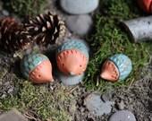 3 Ceramic Glazed Hedgehogs