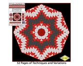 Quilt. Kaleidoscope, and Diamond Fun, Innovative, Rotary Cut, Tubular, Strip Piecing.