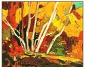 SALE Tom Thomson's The Birch Grove in Autumn Canada Landscape Counted Cross Stitch Pattern