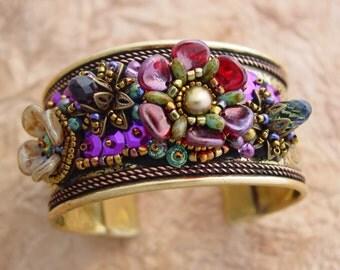 Flower Cuff Bracelet KIT PURPLE