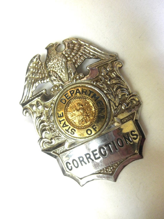 Obsolete California State Department Of Corrections Badge