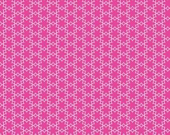 Melly & Me for Riley Blake Designs - WILDFLOWER MEADOW - Flower in Hot Pink - 1 Yard