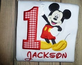 Mickey Mouse Birthday Shirt or Bodysuit with Free Personalization Perfect for a Mickey Mouse Themed Birthday party