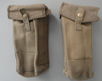 WWII British Ammo Pouches- Driver Model