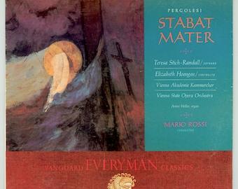 Stabat Mater, Giovanni Battista Pergolesi, Teresa Stich Randall, Elizabeth Hoengen, Vienna State Opera Orchestra Mario Rossi Vintage Record