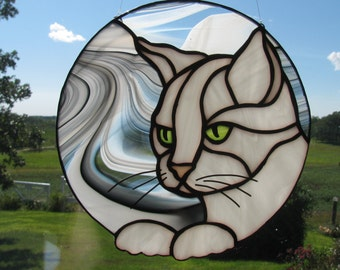 White Cat Suncatcher
