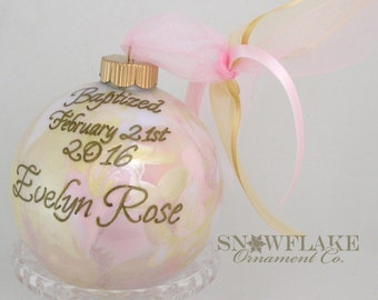 PERSONALIZED BAPTISM KEEPSAKE Ornament