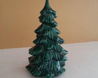 "Vintage Greenware Ceramic 6"" Christmas Tree"