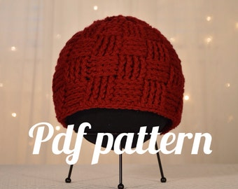 Basket Weave Hat Crochet pattern