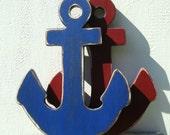painted wood anchor wall art