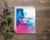 Love card for anniversary, wedding, valentine's or just because
