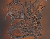 In stock, Large Heavy Archery Forearm Guard, Dragon, Brown Arm guard, One Size Fits most