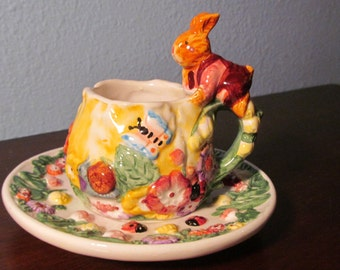 Vintage Easter Cup And Saucer