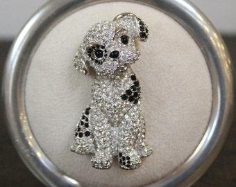 REDUCED, Rare Swarovski Dalmatian Dog Brooch, Pin.