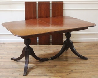 Vintage Mahogany Duncan Phyfe Extending Dining Table C.1930u0027s Thomasville. Part 78