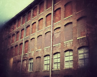 Industrial Urban Brick Warehouse Photography