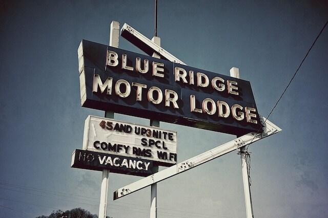 Motel Signs Blue Ridge Parkway Summer Road Trip Summer