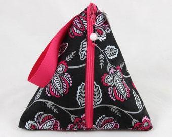 Pretty in Pink Triangle Zipper Pouch