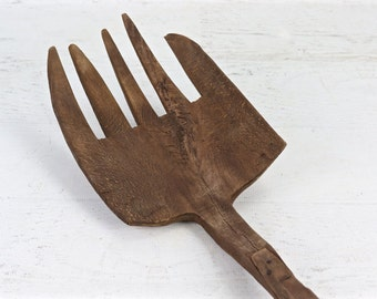 Primitive Wood Pitch Fork, Rustic Pitch Fork, Vintage Pitch Fork, Fork, Vintage Wooden Pitch Fork, Wood Rake, Rake, Primitive Pitch Fork