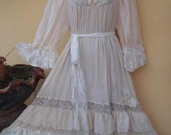 20% OFF wedding formal brides maid bohemian lagenlook gypsy vintage boho ..medium to 42'' bust..