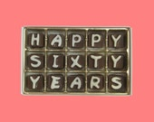 60th Anniversary Sixty Years Gift Couple Grandparents Parent Wedding Anniversary Happy 60 Years Cubic Chocolate Letters Unique Creative Idea