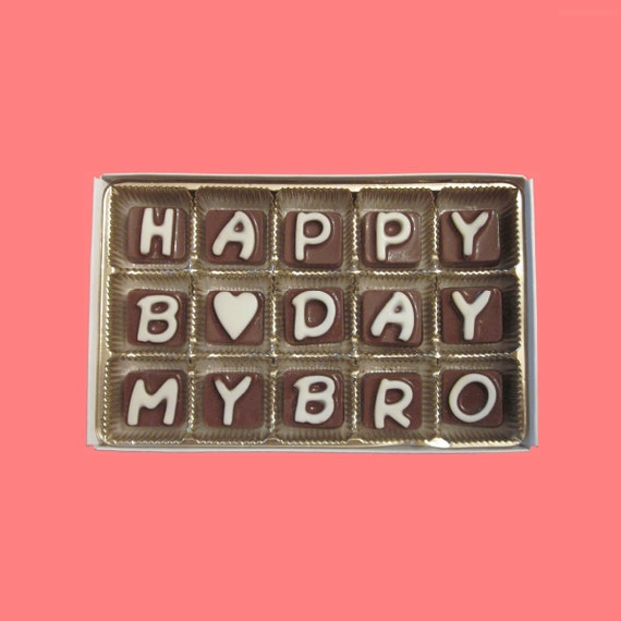 Birthday Gift Man Brother in Law Boy Happy B Day My Bro Big Brother Younger Older Little Cubic Chocolate Letters Long Distance Greeting