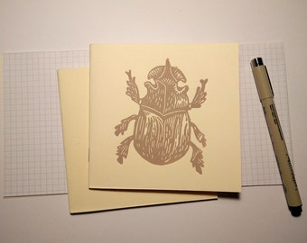NOTEBOOK // Engraving print // Linocut // BETTLE // Limited serie