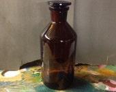 Apothecary Bottle Poison Antidote Vintage Halloween Decor Amber Bottle Halloween Decoration