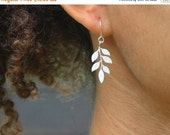 20 off. Beginnings. Tiny Leaf Earrings in Silver or Gold. Nature Jewelry.
