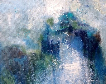 Water Series // Contemporary Oil Painting // Cobalt and Ultramarine Abstract Art