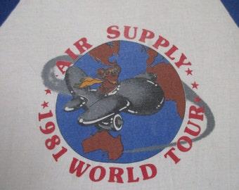 AIR SUPPLY 1980 tour T SHIRT