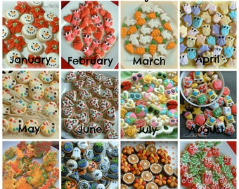 Cookie of the Month Club - 2 dozen MINI cookies per month - SweetArt Sweets