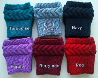 Boot Cuffs,Hand Knit Boot Socks Hand Knit Boot Toppers, Leg Warmers 20Colors Avelable
