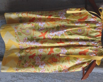Humming birds and gourds - Fall Pillowcase Dress - Size 2 Toddler through 10 Years