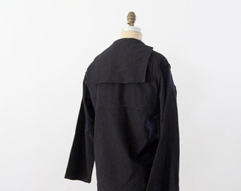 SALE vintage sailor shirt, US navy wool top