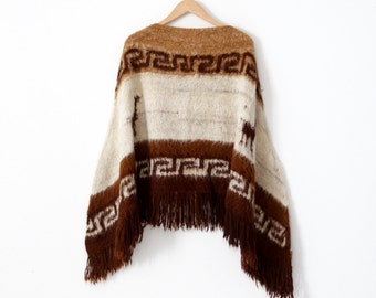 vintage alpaca poncho