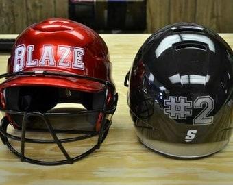 Personalized Helmet Decal - Baseball Softball