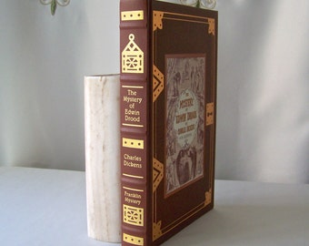 Vintage Mystery Of Edwin Drood Franklin Library Mystery Masterpieces Charles Dickens Hardcover Book 1988